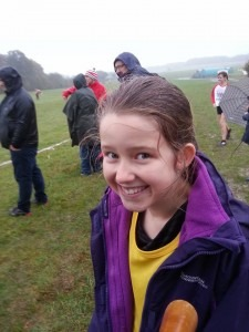 Anya Sandell clearly enjoys cross country running!