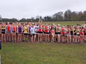 Ladies' start Hampshire Cross Country League, Popham