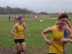 Nikki Sandell and Heidi Tregenza running too fast for the camera