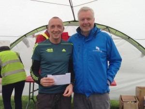 Graeme Miller won 2nd man and 1st MV40 prizes in the Wimborne 10