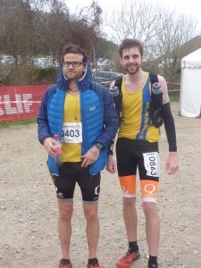Manol Dimitrov, left, 5th in the Endurance Life HM and Toby Chapman, 3rd in the Marathon