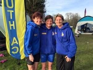BAC Veteran Ladies at Prospect Park, Reading - Nikki Sandell, Louise Price and Caroline Rowley