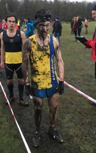 Rob McTaggart - proof of how muddy it was at Dibden Inclosure