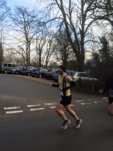 Anthony Clark completes the first small lap at Lytchett 10