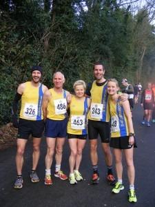 Part of the Lytchett 10 BAC squad - Anthony Clark, Ian Graham, Helen Ambrosen, Steve Way and Gemma Bragg