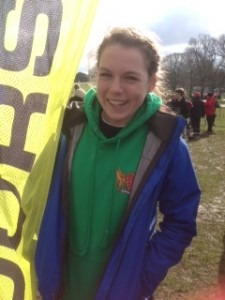 Bridget Dence after an impressive run at the English Schools XC