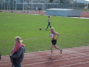 Ian powering home in the 5k