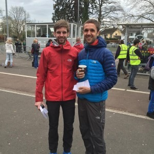 Toby Chapman and Jez Bragg, 1st and 2nd in the Taunton Marathon