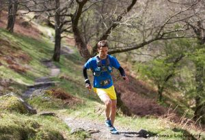 Jez Bragg pursues the leaders in the Hoka Highland Fling