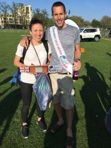 Steve Way with the ladies UK winner Catrina Jennings