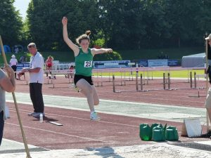 Amelia Dobson leaps to third place in Inter Girls triple jump