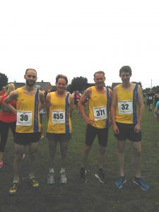 BAC's squad in the D'Urberville Dash - Max Catterall, Jud Kirk, Simon Hearn and Joe Price