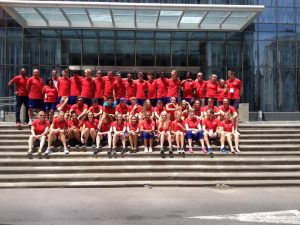A successful GB U18 team (Zac Kerin ninth from left on top row) ready to leave Georgia after the European Championships