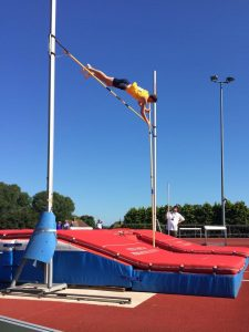 Adam Carpenter wins the Pole Vault at Yeovil to help win BAC's BAL team promotion