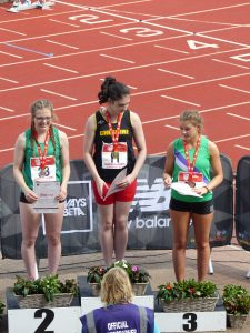 Danielle Broom receives her silver medal
