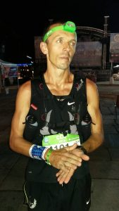 Jacek Cieluszecki after running 101k in the French Alps