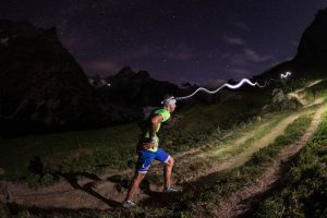 Couldn't resist this photo of Jez competing in an earlier UTMB