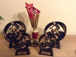 Ross Smith's trophies from the 2016 Southern XC Duathlon 2016 season