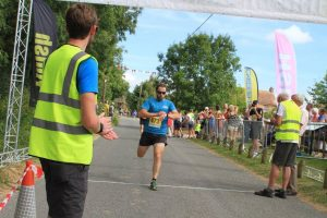 Toby Chapman provided invaluable assistance at the finish throughout the event
