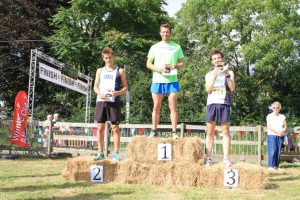James Thie (1), Andrew Smith (2) and Daniel Mulryan (3), winners of the Elite Race
