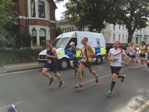 Steve Way on his way to winning the Gloucester City Marathon