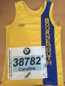 Caroline Rowley before the Berlin Marathon.................................