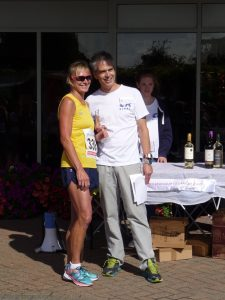 Yvonne Tibble is the winner of her age category
