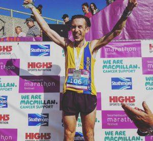 Rob McTaggart - 1st Brit in the Bournemouth Marathon