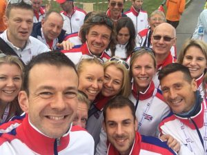 Pat Robbins with the GB Squad at the European 24 Championships, together with Paul Consani, there to support Marco Consani and the rest of the squad