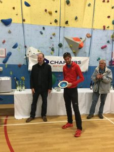 Toby Chapman with 2nd man prize