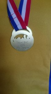 The rear of the Championship medal