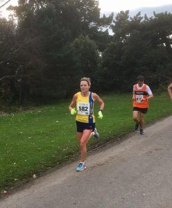 Yvonne Tibble competing in the Boscombe 10k