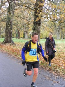 Richard Nelson approaches the finish - for the second time!