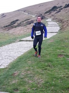 Richard Nelson - halfway in Endurance Life Dorset, only 14 miles to go...........................