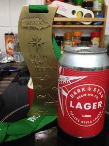 Darkstar River Marathon medal