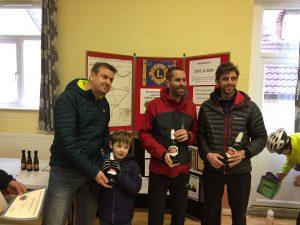 Toby, Steve & Ant - 1st male team - Blackmore Vale Half Marathon