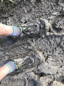 Mark Hillier - Pilgrim Challenge - Muddy ground