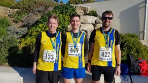 Phil, Steve and Pawel after Bournemouth 10 race