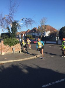 The lead pack in the Bournemouth 10