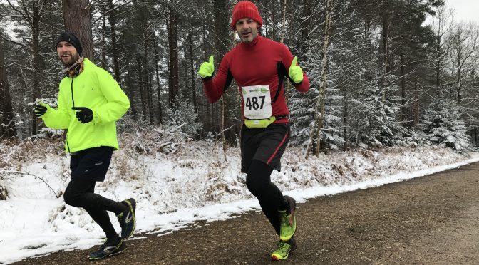Trevor Elkins & Richard Brawn in New Forest Running Festival 20 Miler