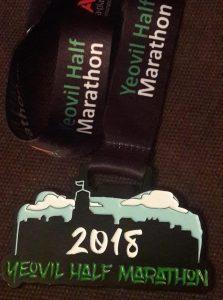 Julian Oxborough's Yeovil Half Marathon medal