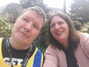 Julian and Ruth at Yeovil Half Marathon
