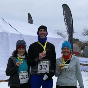 Lazslo Toth and friends after New Forest Running Festival 10k