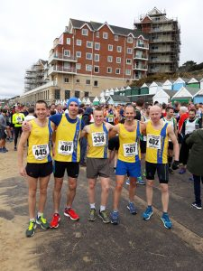 BAC men's scoring team at Easter Quarter Marathon
