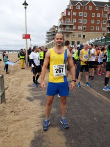 Richard Brawn at Rotary East Cliff Easter Quarter Marathon