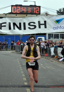Toby Chapman is victorious in Taunton Marathon