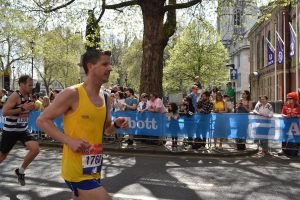 Ant Clark hits the streets for the London Marathon