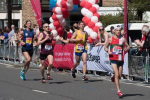 Ant Clark in action at the London Marathon