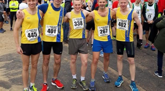 Bournemouth AC men's team at Rotary Easter Quarter Marathon