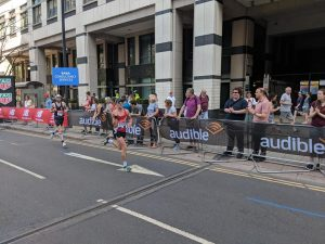 Craig Palmer zooms along in the London Marathon